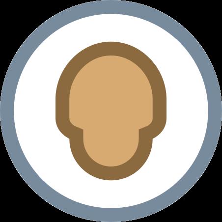 Circled User Neutral Skin Type 5 icon