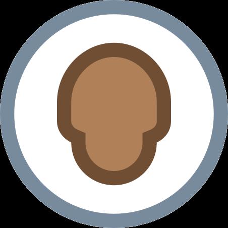 Circled User Neutral Skin Type 6 icon