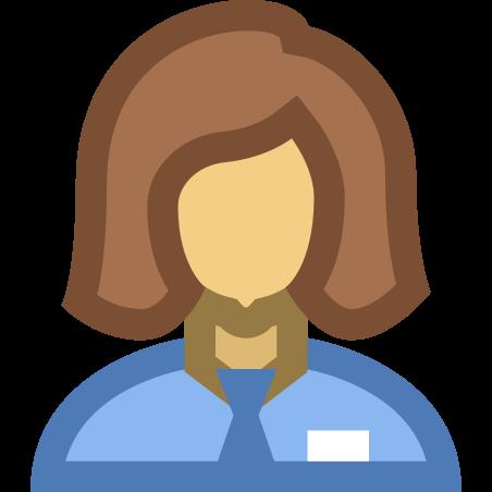 Collaborator Female icon in Office XS