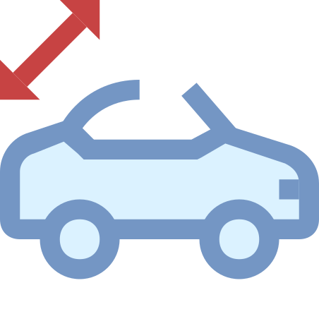 Convertible Roof Warning icon