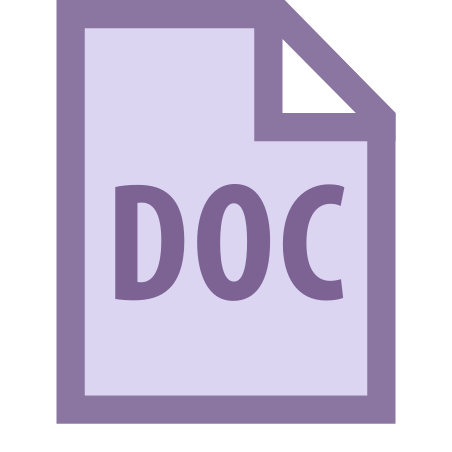 DOC icon in Office XS