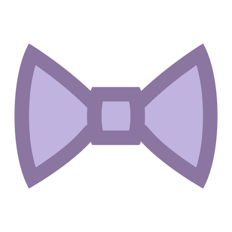 Filled Bow Tie icon in Office XS