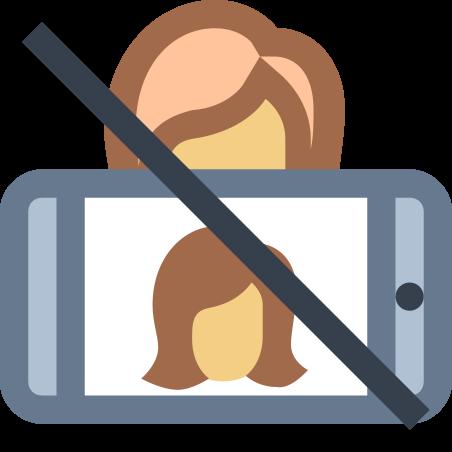 No Selfie icon