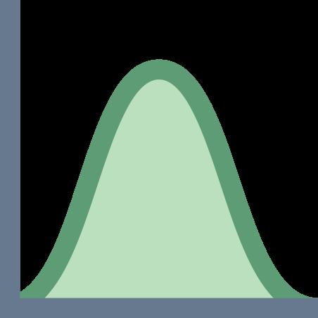 정규 분포 히스토그램 icon