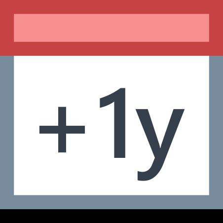 Plus 1 Year icon