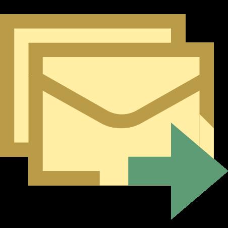 Enviar correo electrónico masivo icon
