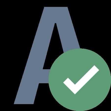 Verificação ortográfica icon