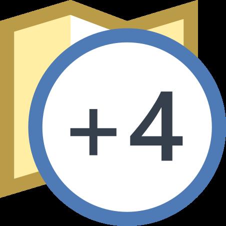 Timezone +4 icon