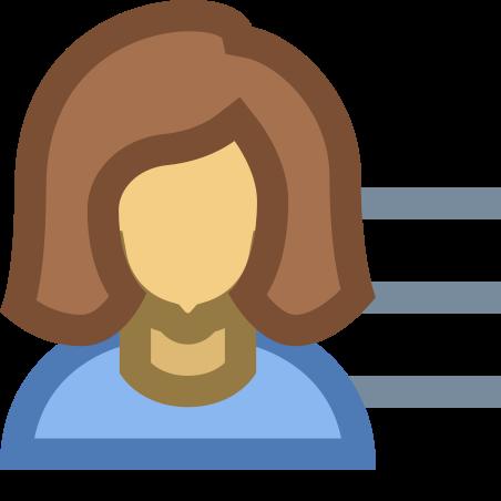 ユーザー メニュー女性 icon