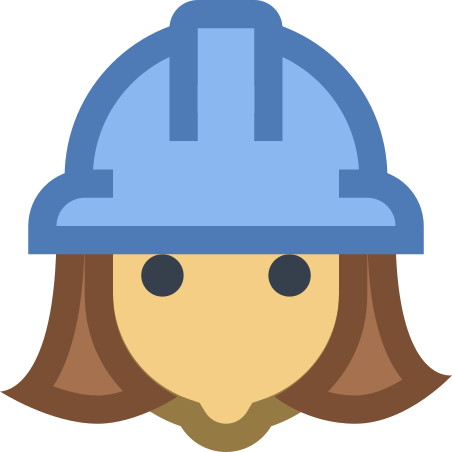 Female Worker icon in Office XS