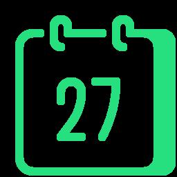 calendar 27--v1 icon