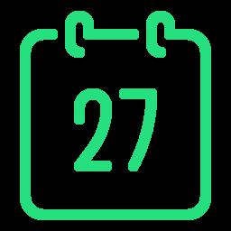 calendar 27--v2 icon