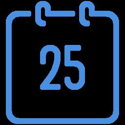 calendar 25 icon