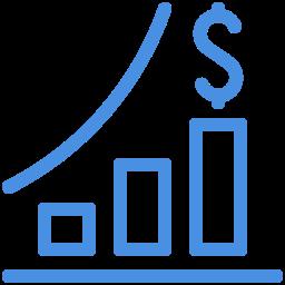stocks growth icon