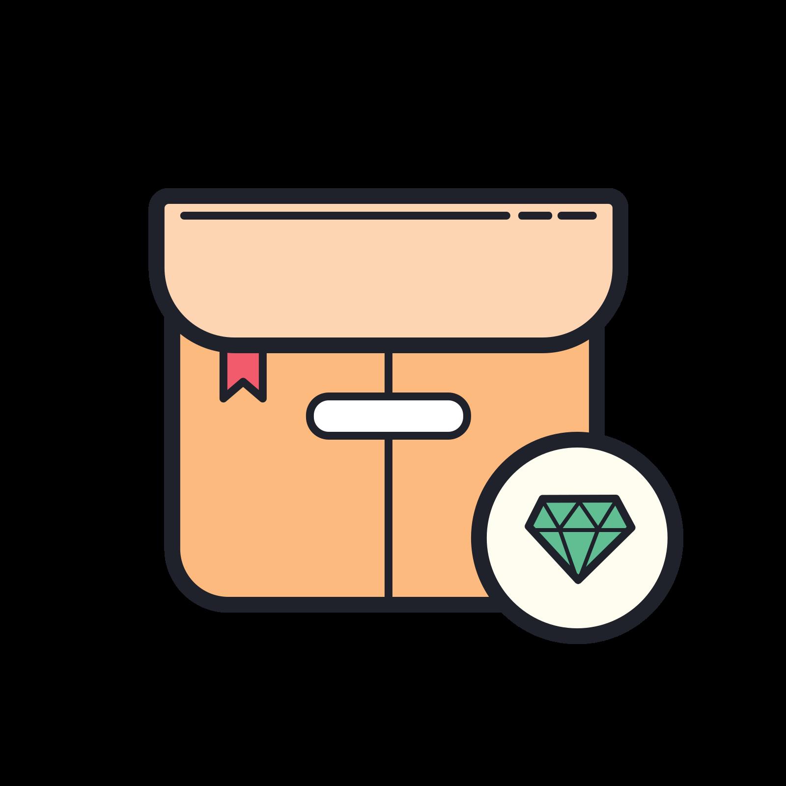 Box Diamond icon