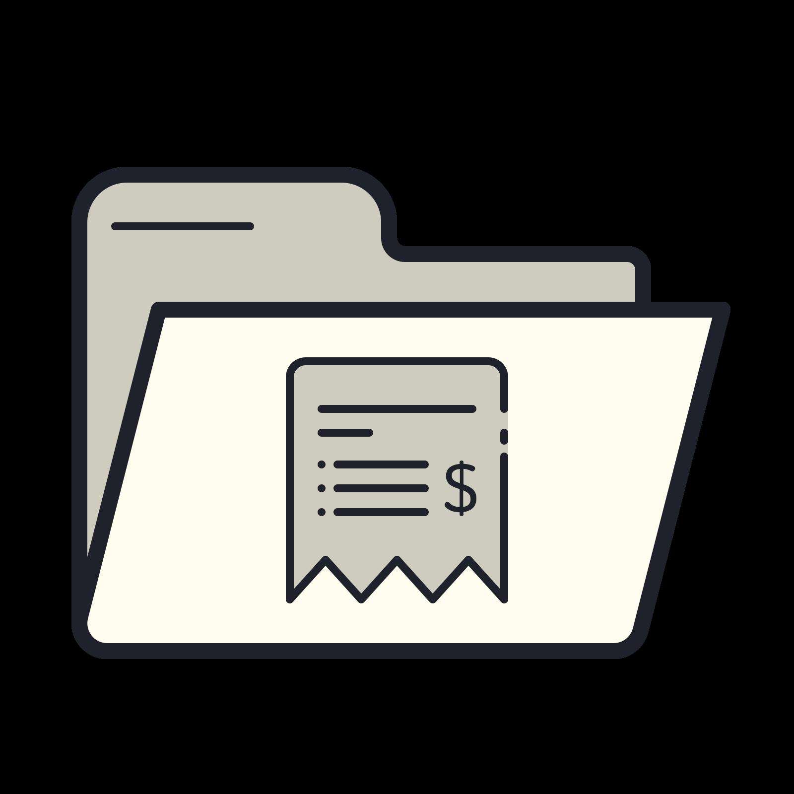 Folder Bills icon
