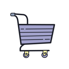 plasticine shopping-cart icon