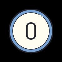 0 circulado icon