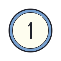 Circled 1 icon