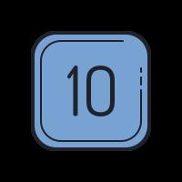 10 C icon