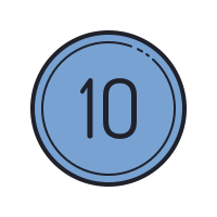 10 Circled C icon