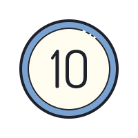 10 Circled icon