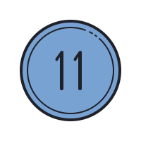 11 Circled C icon