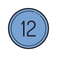12 Circled C icon