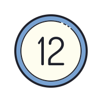 12 Circled icon
