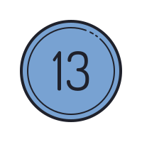 13 Circled C icon