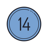 14 Circled C icon