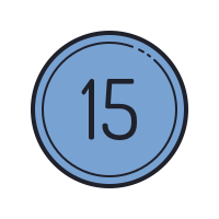 15 Circled C icon