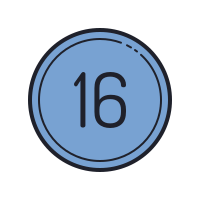 16 Circled C icon