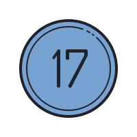 17 Circled C icon