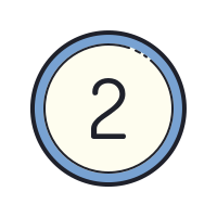 Circled 2 icon