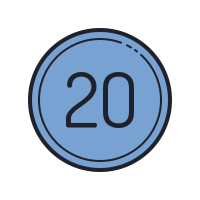 20 Circled C icon