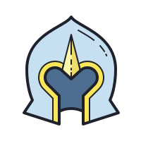 armored helmet icon