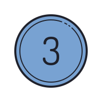 Number Three icon