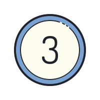 Circled 3 icon