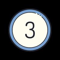 Circled 3  icon