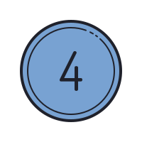 Number Four icon