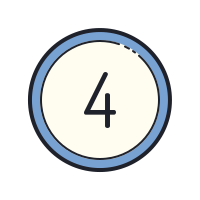 Circled 4 icon