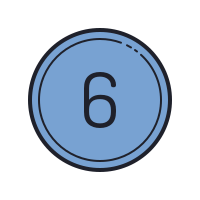 Circled 6 C icon