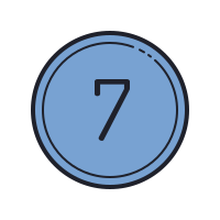 Circled 7 C icon
