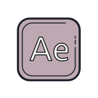 Adobe After Effects logo icon