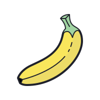 Banana Outline icon
