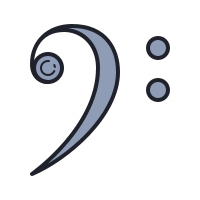 Bass Clef icon