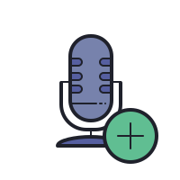 block microphone--v1 icon