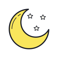 Luna luminosa icon