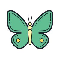 Butterfly Outline icon
